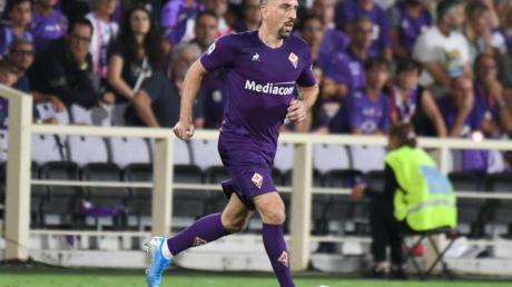 Franck Ribéry wurde unter Standing Ovations der Fiorentina-Fans eingewechselt.