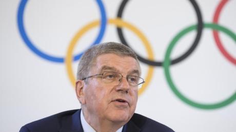 IOC-Präsident Thomas Bach begrüßt die deutschen Olympia-Bemühungen. Foto: Xu Jinquan/XinHua
