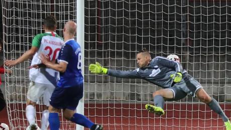 Der Führungstreffer durch Lukas Petkov (Nr. 30) wirkte wie eine Befreiung für die Fußballer des FC Augsburg II. Letztlich siegten sie 2:1.