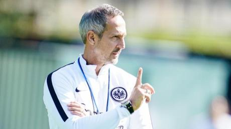 Hat mit seinem Team den FC Arsenal zu Gast: Eintracht-Coach Adi Hütter.