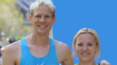 Glückliches Sieger- und Ehepaar: Michael Sassnink (ehedem Harlacher) und Hannah Sassnink (beide weiterhin LC Aichach).