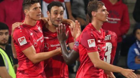 Mit dem Sieg in Bielefeld konnte Tabellenführer VfB Stuttgart den Vorsprung ausbauen. Foto:Friso Gentsch