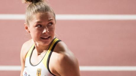 Gina Lückenkemper wurde in mäßigen 11,30 Sekunden Letzte ihres Laufs über 100 Meter.