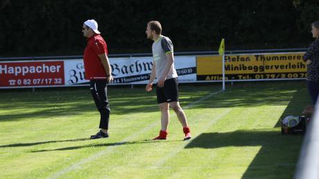Trainer Thomas Schmalzl (links) und Spielertrainer Sebastian Slupik verlassen den FC Gundelsdorf.