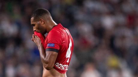 Leverkusens Jonathan Tah nach der 0:3-Niederlage bei Juventus Turin. Foto: Marius Becker/dpa