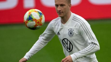 Soll gegen Estland wieder im DFB-Trikot auflaufen: Marco Reus. Foto: Federico Gambarini/dpa
