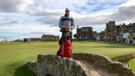 Nicht bei seinem Sieg in der Bretagne, aber auch auf keltischem Boden: Sebastian Heisele im schottischen St. Andrews, dem Mekka des Golfsports.