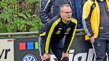 Holte mit der TSG Untermaxfeld in den vergangenen drei Spielen fünf Punkte: Wolfgang Rückel und sein Team treffen am Sonntag auf den TSV Burgheim.