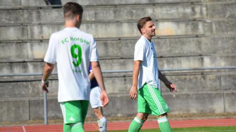 Einen schweren Gang treten Marco Korschany und Fabian Tögel (von links) vom FC Horgau an. Bei, tabellenzweiten SpVgg Langerringen wollen sie jedoch weiter ungeschlagen bleiben.