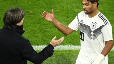 Hat bei der Nationalmannschaft oft Grund zum Jubel: Serge Gnabry. Foto: Christian Charisius/dpa