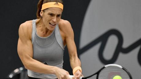 Ist beim Tennis-Turnier in Linz im Halbfinale ausgeschieden: Andrea Petkovic. Foto: Barbara Gindl/APA/dpa