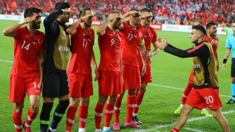 imago images 43357050 Turkey players celebrate Cenk Tosun s gol during the Euro 2020 football qualification match between Turkey and Albania