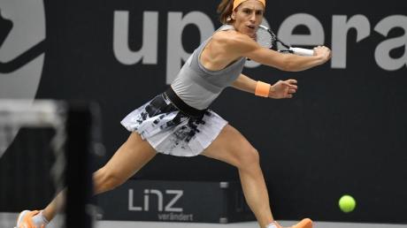Andrea Petkovic gab in Luxemburg auf.