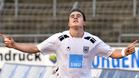 Andreas Ludwig bejubelt seinen ersten Treffer im Spatzen-Dress. Im Jahr 2009 war das. Der heute 29-Jährige spielte anschließend unter anderem für 1860 München, Aalen oder Utrecht in den Niederlanden. Heute trifft er für die TSG Hoffenheim II in der Regionalliga Südwest.