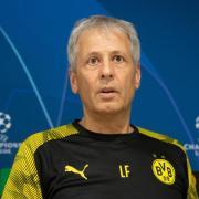 Muss bei Inter Mailand auf Kapitän Marco Reus verzichten: BVB-Coach Lucien Favre. Foto: Bernd Thissen/dpa
