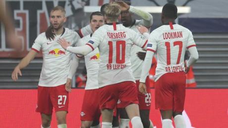 Spiel gedreht: Marcel Sabitzer sorgte mit seinem Tor für die Entscheidung und den Heimsieg gegen Zenit. Foto: Jan Woitas/dpa-Zentralbild/dpa