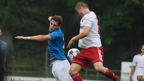 Auf dieses Duell darf man gespannt sein. Zentrale Figuren in ihren Mannschaften sind Fabian Krug vom SV Cosmos Aystetten (links) und Raphael Schimunek vom TSV Neusäß.