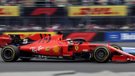 Ferrari-Star Sebastian Vettel hofft auf ein starkes Qualifying in Mexiko. Foto: Marco Ugarte/AP/dpa