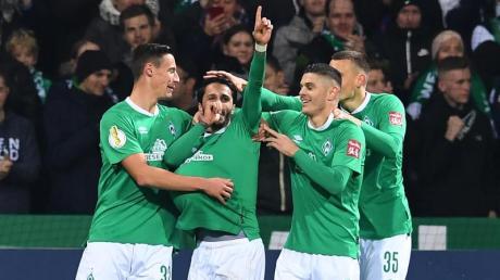 Ohne große Probleme konnte sich Werder Bremen gegen Zweitligist Heidenheim behaupten. Foto: Carmen Jaspersen/dpa
