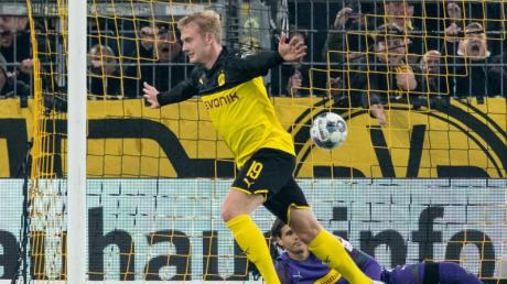 Erzielte zwei Treffer für den BVB: Julian Brandt. Foto: Bernd Thissen/dpa