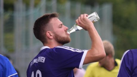 Jede Menge Zielwasser hat Thomas Kubina vom TSV Dinkelscherben getrunken.