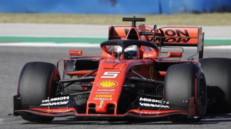 Sebastian Vettel musste sich nur Valtteri Bottas geschlagen geben. Foto: Darron Cummings/AP/dpa