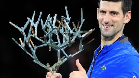 Novak Djokovic hat in Paris das Finale gegen Denis Shapovalov gewonnen. Foto: Michel Euler/AP/dpa