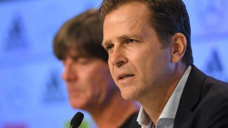 Oliver Bierhoff sieht das DFB-Team bei der EM 2020 eher in einer Außenseiter-Rolle.