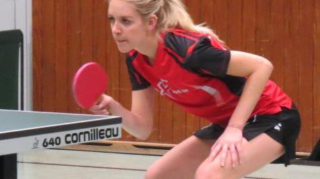 Bianca Wanzl und der TSV Herbertshofen erkämpften sich gegen Wombach einen wichtigen Zähler.
