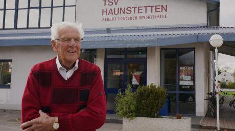 2019: Am Donnerstag feiert Albert Loderer seinen 90. Geburtstag. Und immer noch ist er Stammgast in der Halle, die nach ihm benannt ist.