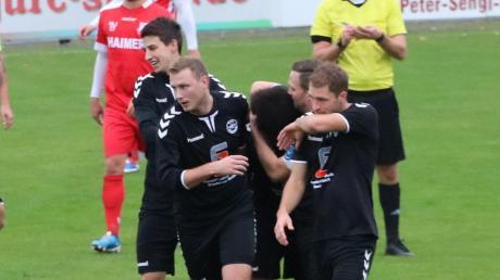 Gleich vier Mal durften die Ecknacher in Aindling jubeln. Am Sonntag ist der TSV Wertingen zu Gast beim VfL.