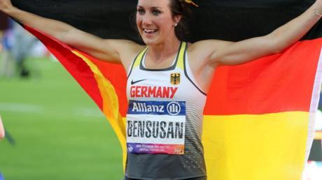 Hat bei der Para-WM im Sprint über 200 Meter gesiegt: Irmgard Bensusan. Foto: Jens Büttner/zb/dpa