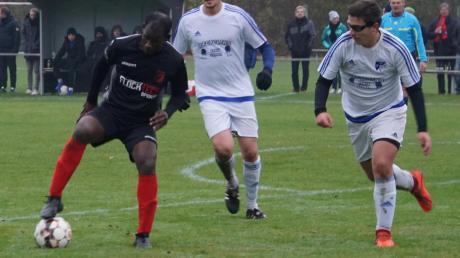 Lamin Bah war ein Aktivposten im Wehringer Spiel. Erst legte er das 1:0 auf, dann traf er selbst zum 2:0.