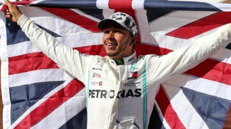 Lewis Hamilton hat den Weltmeister-Titel schon in der Tasche. Foto: -/PA Wire/dpa