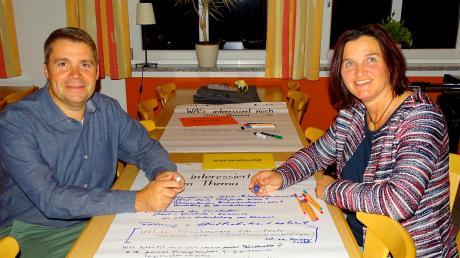 Die beiden Vorsitzenden des BC Rinnenthal, Christian Treffler und Renate Kigle, hatten den Vorschlag gemacht, sich reihum bei den Vereinen zu treffen. Die Friedberger Vereine wollen mehr kooperieren.