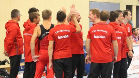 Mit Selbstvertrauen kann der TSV Monheim in den letzten Saisonwettkampf gehen. Das Team turnt gegen Exquisa Oberbayern.