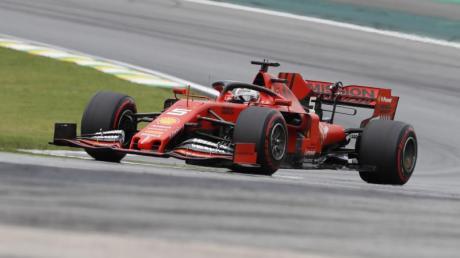 Geht von Startplatz zwei in das Brasilien-Rennen: Sebastian Vettel. Foto: Nelson Antoine/AP/dpa
