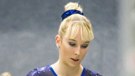 Janine Berger zeigte auch in Potsdam gute Übungen.