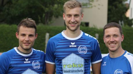 Geben auch in der kommenden Saison die Kommandos beim Kreisligisten SC Griesbeckerzell: (von links) Die beiden Co-Trainer Marius Kefer und Simon Landes sowie Chefcoach Matthias Kefer.