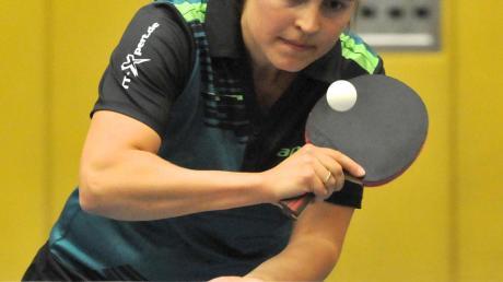 Klare Siegerin im Derby gegen den TTC Langweid II: Madeleine Wagner überzeugte mit drei Punkten für den TSV Herbertshofen.