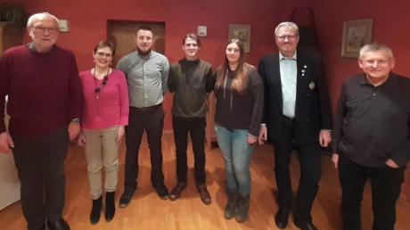 Der neue Vorstand des Segelclub Neuburg: (von links) Alfred Lauter, Christine Reissig, Felix Thaller, Jakob Rinnagl, Ruth Mayerhofer, Bernd Gärtner und Gerhard Wagner.