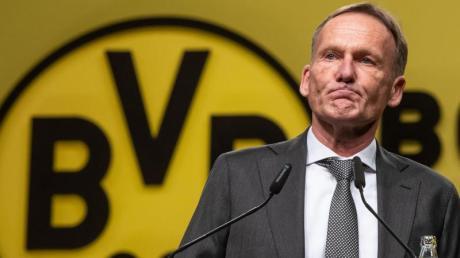 Geschäftsführer Hans-Joachim Watzke wandte sich mit einem Appell an das Team.