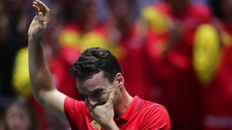 Roberto Bautista Agut brach nach seinem Sieg in Tränen aus.