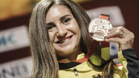 Gesa Krause will über 3000 Meter Hindernis die Neun-Minuten-Marke knacken.