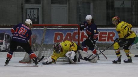 Lubomir Vaskovic (links) erzielte beim 6:5-Heimsieg des EV Bad Wörishofen gegen den EHC Bad Aibling drei Tore. Den entscheidenden Treffer zum Sieg in der Verlängerung allerdings markierte mit Andreas Walter ein Abwehrspieler.