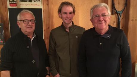 Das neue Führungstrio des TC Burgheim: Hans Etsberger (von links), Korbinian Kornmann und Peter Abspacher leiten künftig gleichberechtigt die Geschicke des Vereins.