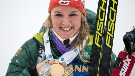 Bei den Biathlon-Damen ruhen einige Hoffnungen auf Denise Herrmann.
