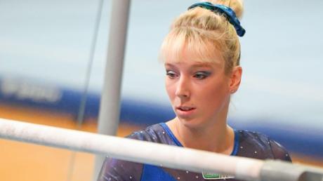 Starren auf den Barren: Janine Berger wird am Samstag beim Finale der Deutschen Turnliga an Stufenbarren und Sprung antreten.