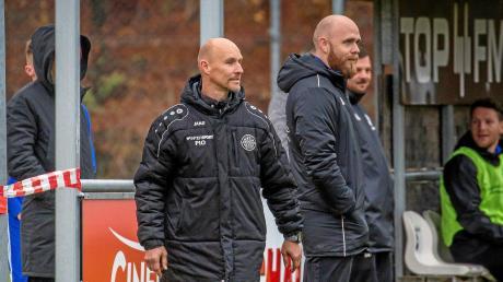 Landsbergs Trainer Sven Kresin (links) würde gerne mal wieder jubeln.