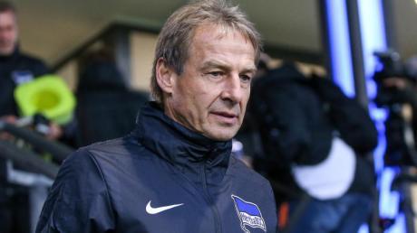 Jürgen Klinsmann hofft weiter auf den ersten Sieg mit Hertha. Klappt es gegen Eintracht Frankfurt?